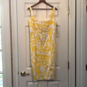 Calvin Klein yellow and white sundress